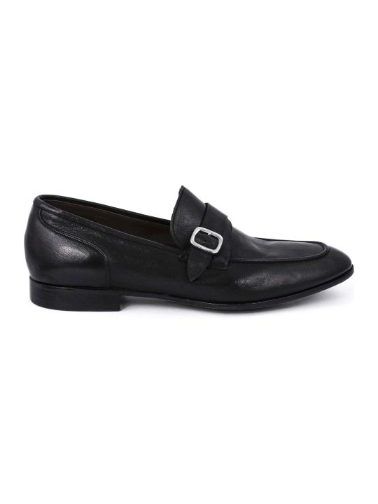 Green George Black Leather Loafer