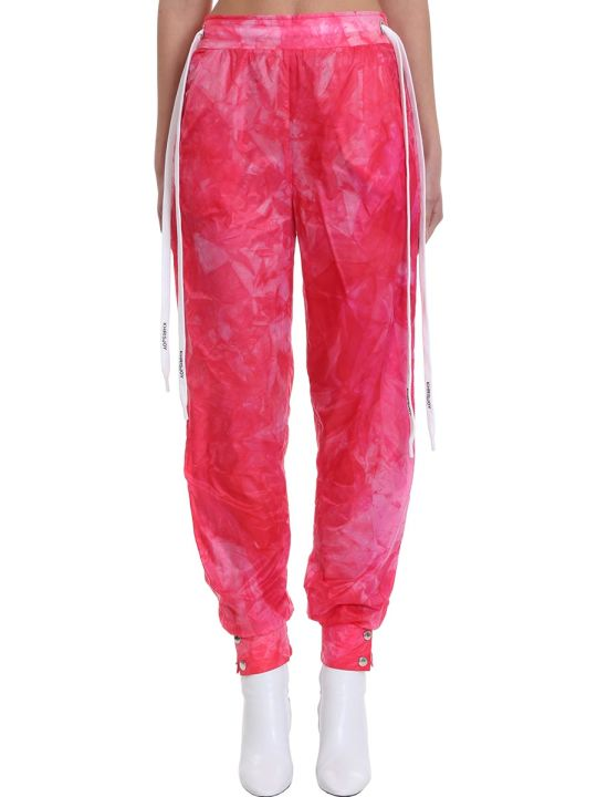 Khrisjoy Pants In Fuxia Tech/synthetic