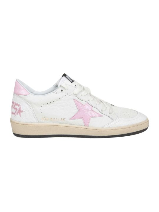 Golden Goose Sneakers Ball Star In White Leather