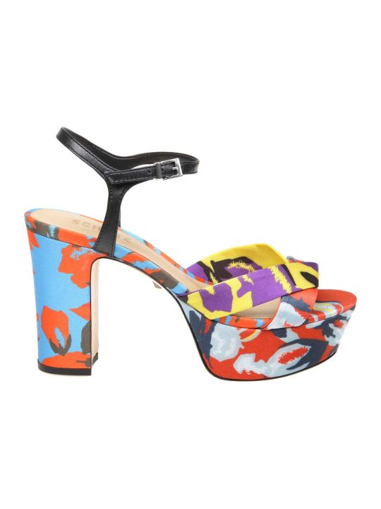 Schutz Sandals In Multicolor Fabric