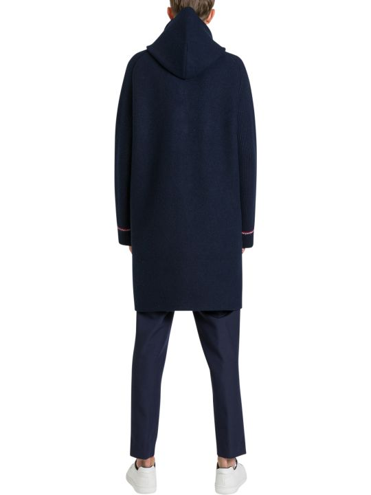 Thom Browne Long Cardicoat With Knitted Sleeves