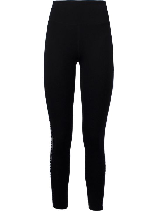DKNY Black Cotton Leggings