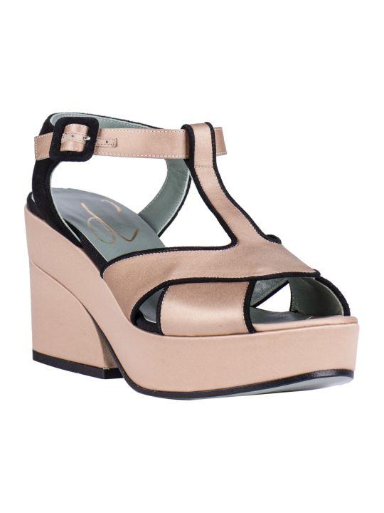 Paola D'Arcano Bicolor Platform Sandals