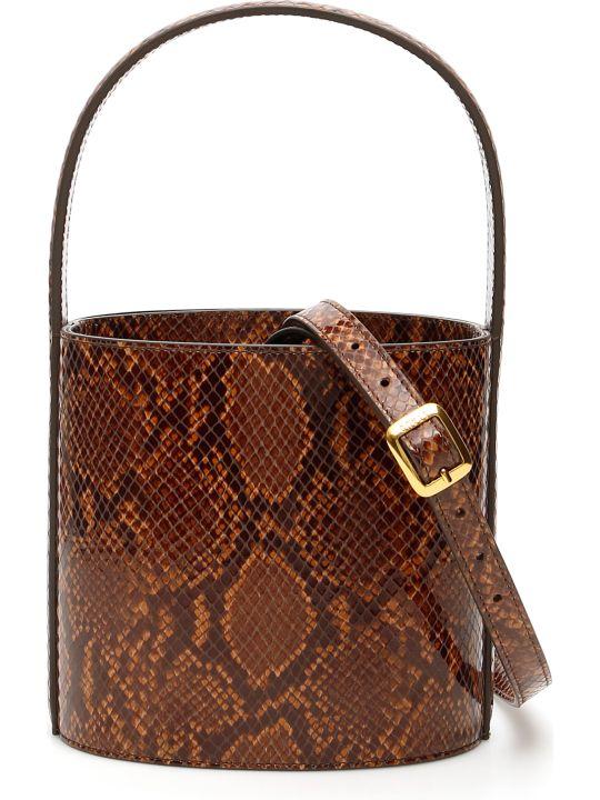 STAUD Python Print Bissett Bag