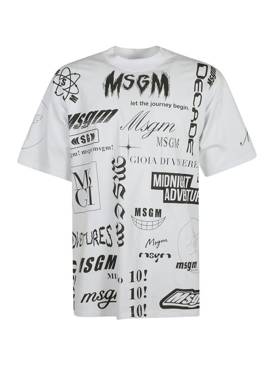 MSGM All-over Printed T-shirt