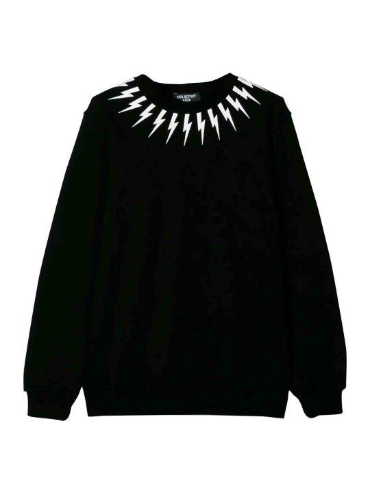 Neil Barrett Black Teen Sweatshirt