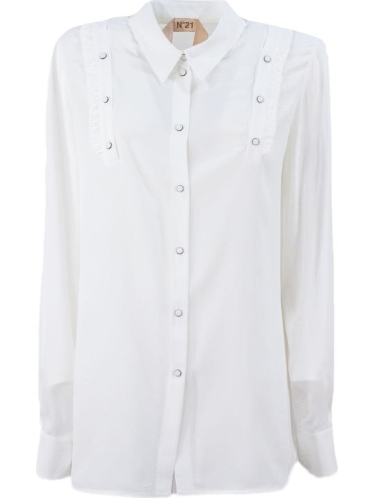 N.21 White Silk Blend Shirt