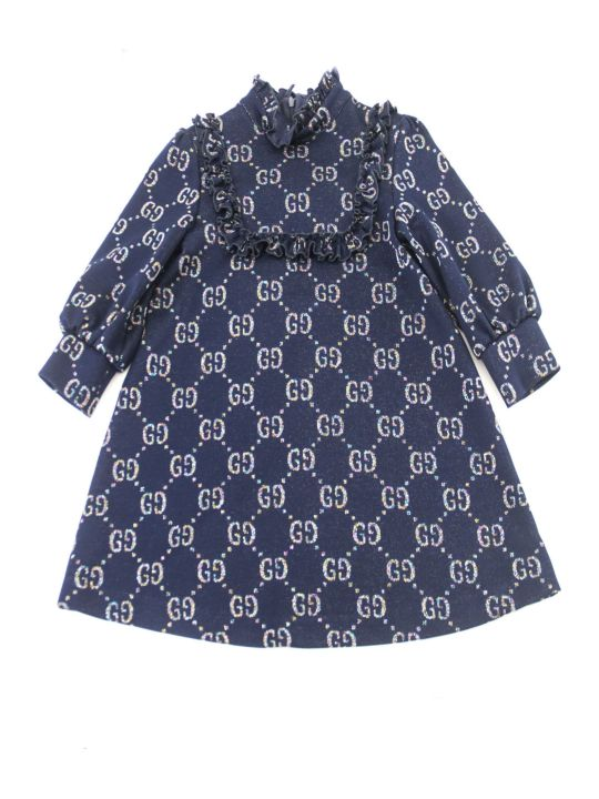 Gucci Children's Gg Lamé Dress