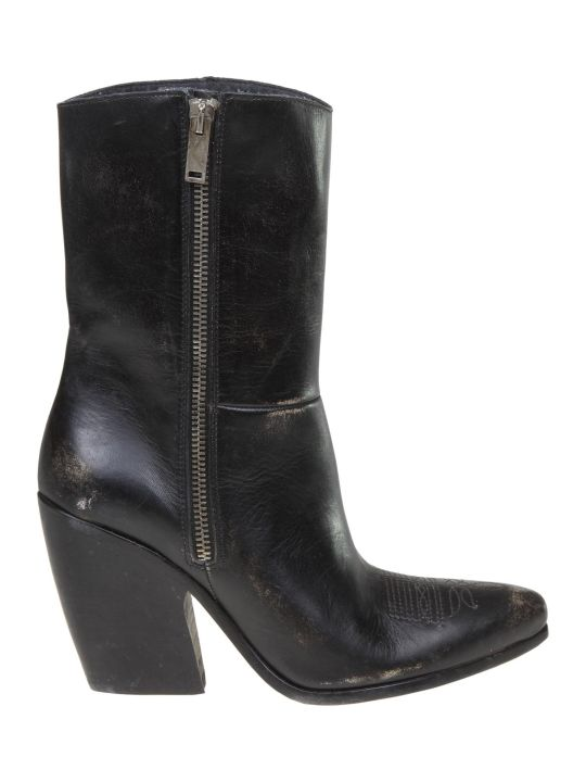 Golden Goose Candy Mid Boots In Black Leather
