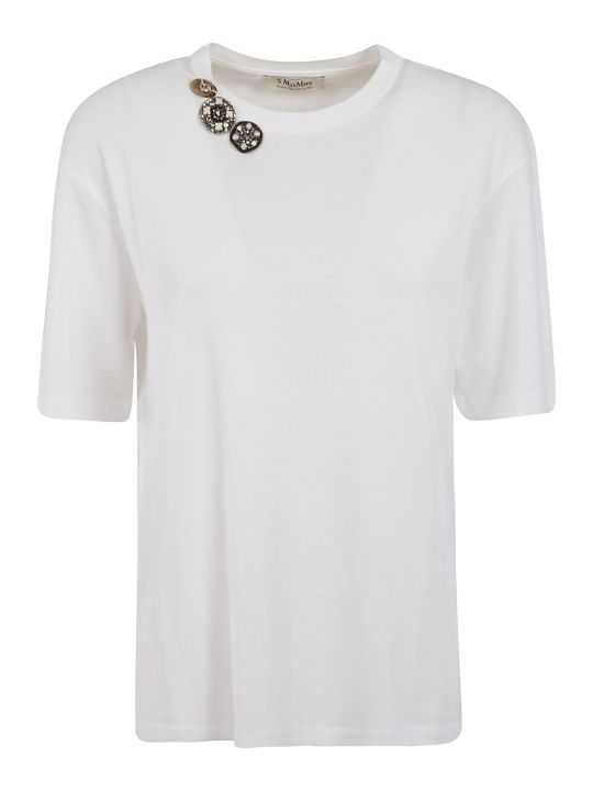 'S Max Mara Button Embellished T-shirt