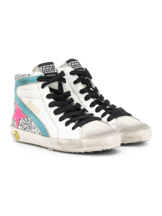 Golden Goose Slide Panelled High-top Sneakers