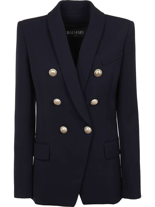 Balmain Oversized 6 Btn Wool Jacket