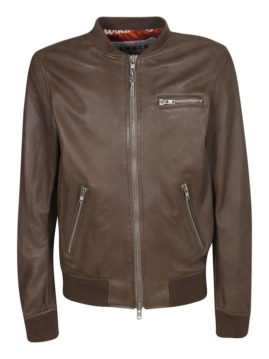 S.W.O.R.D 6.6.44 Zipped Leather Bomber