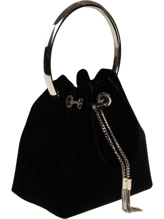 Jimmy Choo Handbag Bon Bon In Velvet Color Black