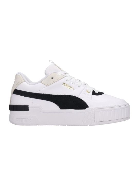 Puma Cali Sport Heri Sneakers In White Leather