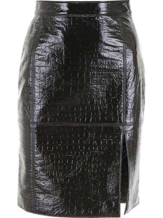 MSGM Python-embossed Skirt