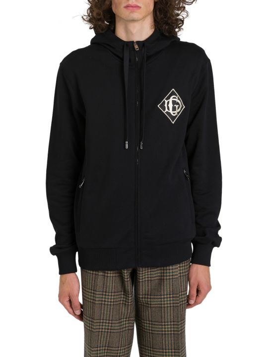 Dolce & Gabbana Zip-up Hoodie With Logo