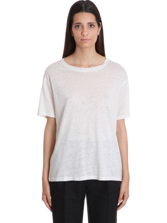 Acne Studios Ember T-shirt In Beige Cotton