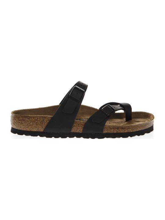 Birkenstock Black Mayari Sandals In Birko Flor Fabric