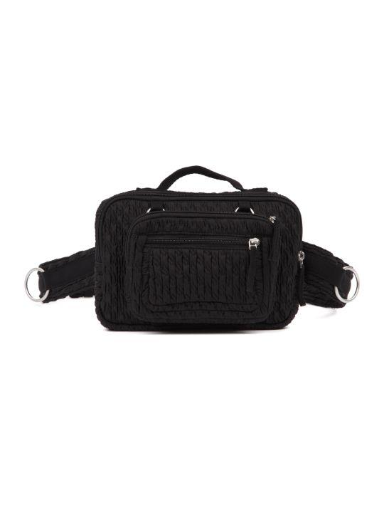 Eastpak Black Matalassé Nylon Belt Bag