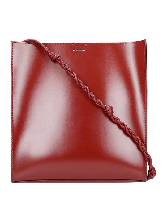 Jil Sander Tangle Md Shoulder Bag In Red Leather
