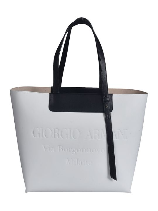 Giorgio Armani Stamped Logo Shopper Bag