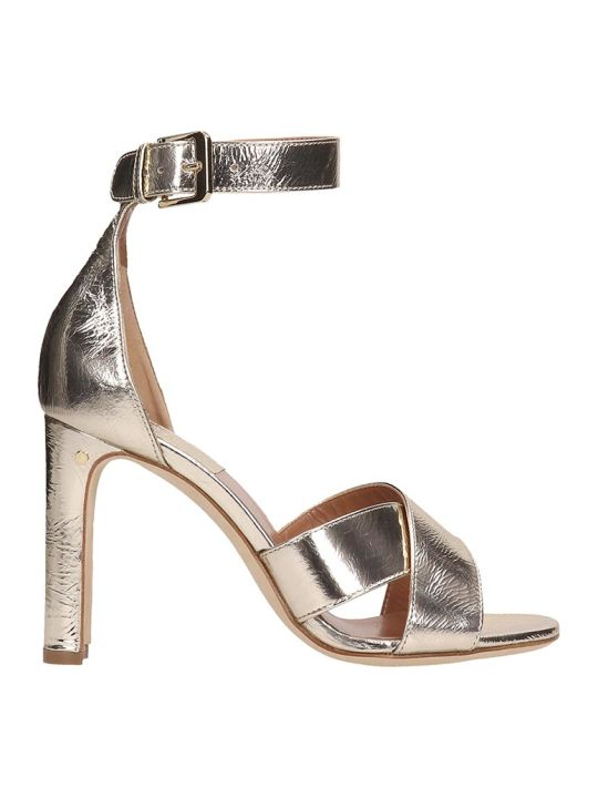Laurence Dacade Platinum Leather Sandals