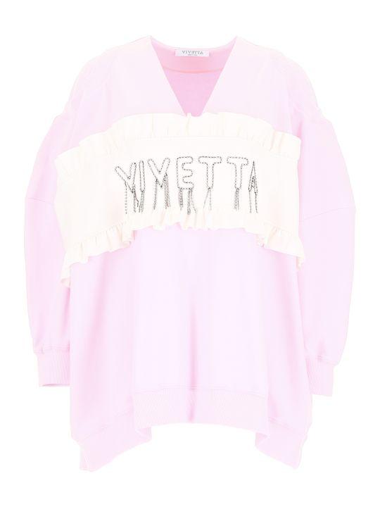 Vivetta Crystal Logo Sweatshirt
