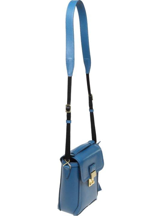 3.1 Phillip Lim Phillip Lim Pashli Shoulder Bag In Blue Leather