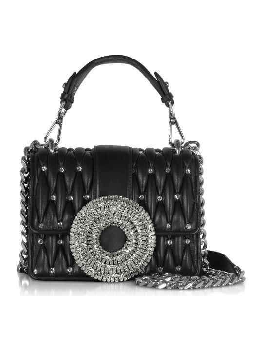 Gedebe Gio Small Nappa Leather & Crystal Handbag