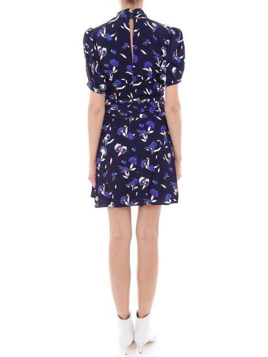 self-portrait Botanical Printed Mini Dress