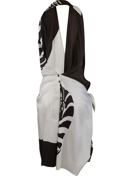 Bottega Veneta Zebra Twill Dress