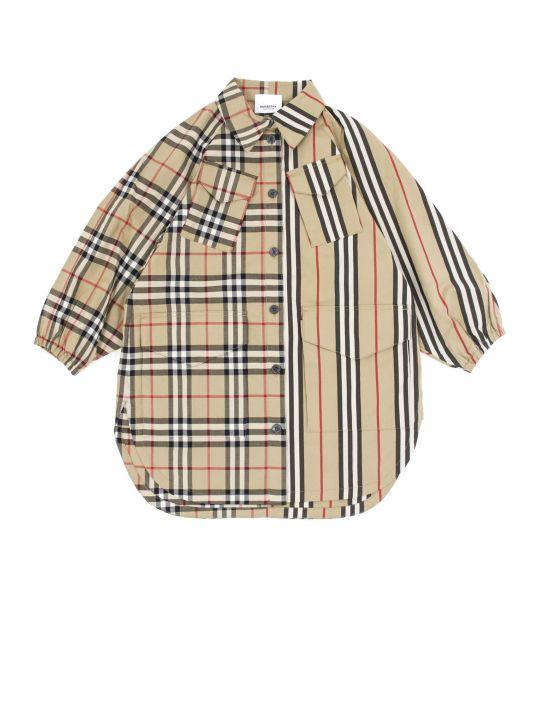 Burberry Beige Cotton Shirt Dress