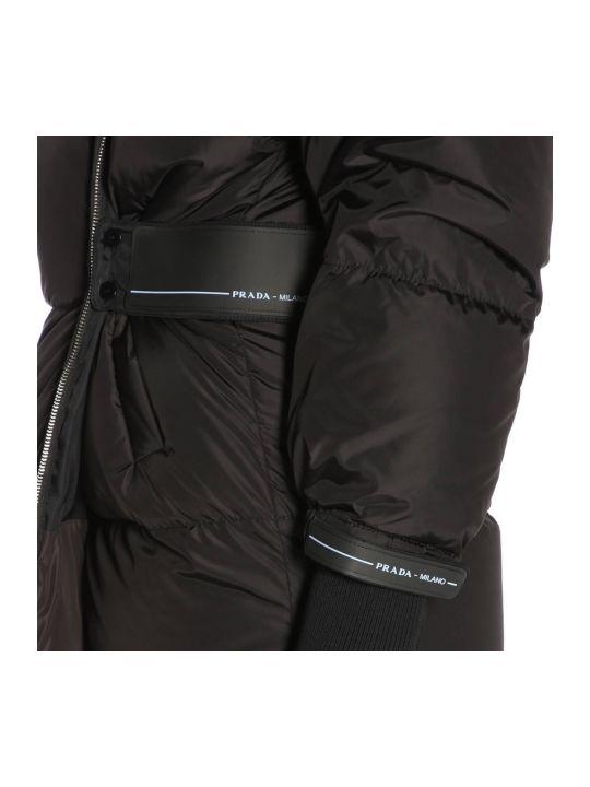94959d2561 Prada Prada Jacket Prada Waterproof Nylon Down Jacket With Maxi ...
