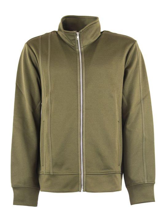 Helmut Lang Green Cotton Blend Sweatshirt