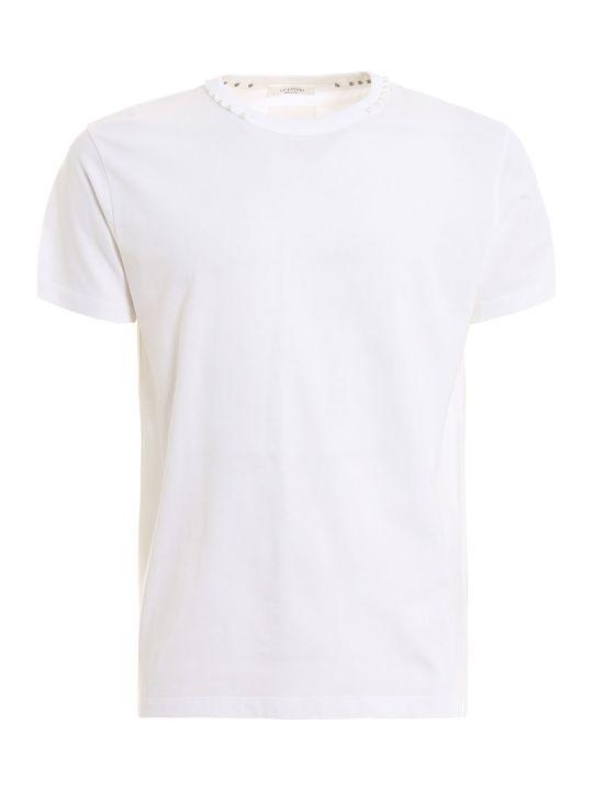 Valentino Rockstud-neck T-shirt