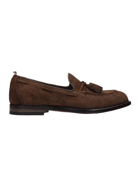 Officine Creative Brown Suede Loafer