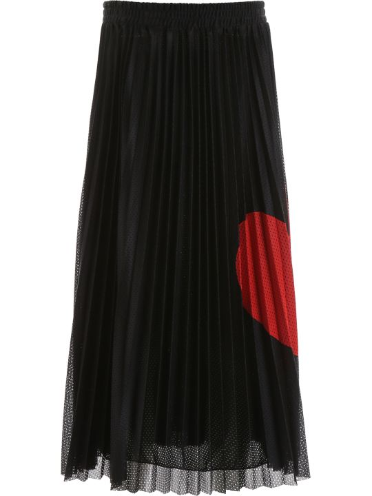 RED Valentino Pleated Skirt With Heart
