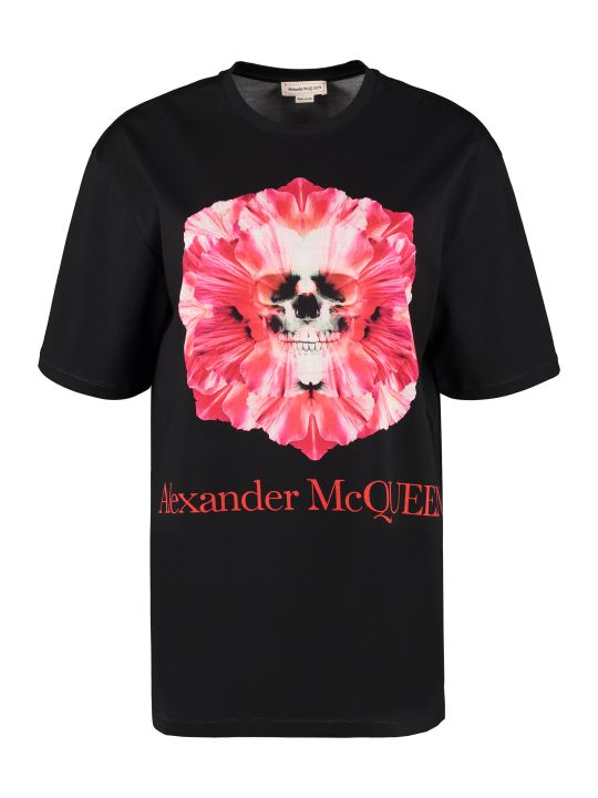Alexander McQueen Printed Cotton T-shirt