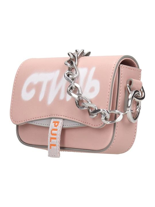 HERON PRESTON Shoulder Bag In Rose-pink Leather