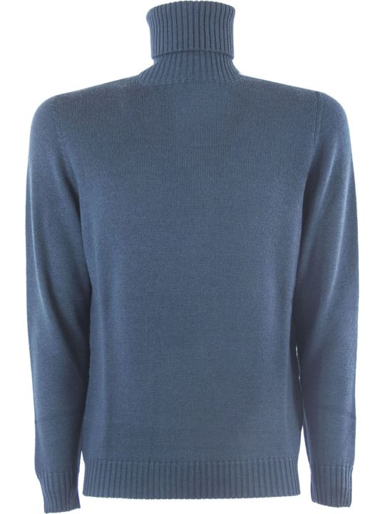 Drumohr Dark Grey Merino Wool Sweater