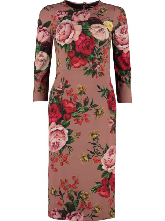 Dolce & Gabbana Printed Crêpe Georgette Dress