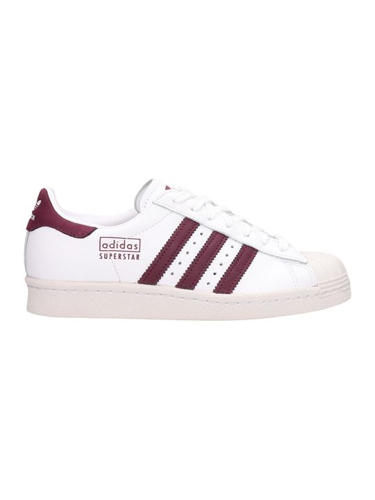 Adidas White Leather Superstars 80s Sneakers