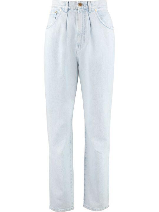 Alberta Ferretti High-rise Straight Ankle Jeans