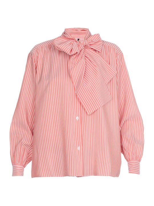 Ben Taverniti Unravel Project Stripe Draped Shirt