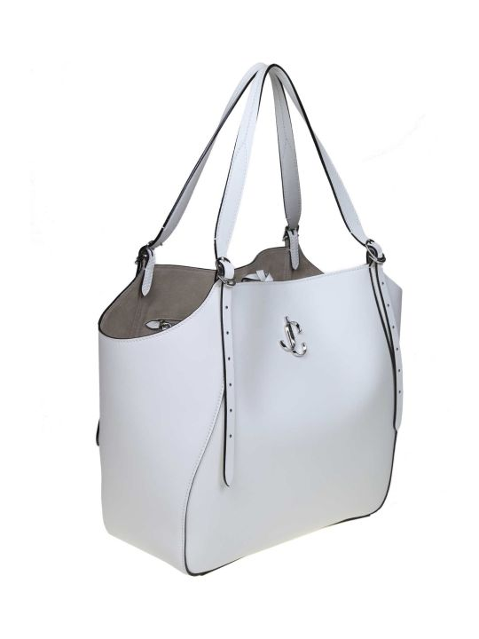 Jimmy Choo Varenne Tote Shopping In Leather Color With Logo