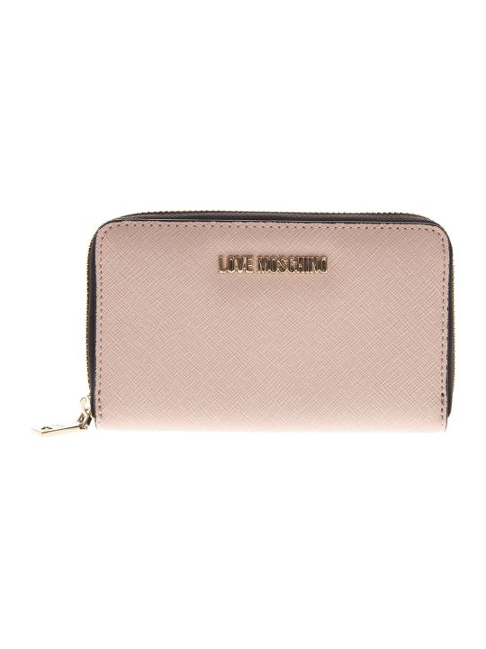 Love Moschino Pink Eco Leather Continental Wallet