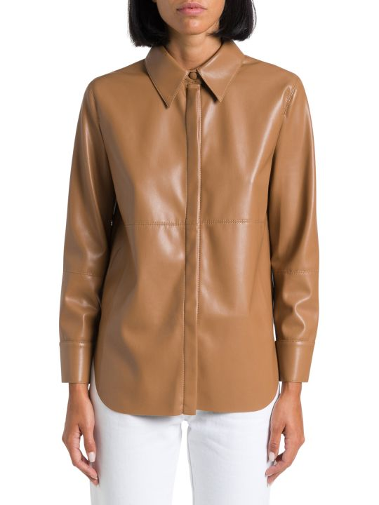 Nanushka Faux Leather Shirt