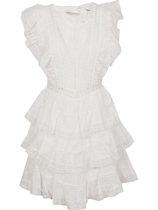 Zimmermann Heathers Pintuck Frill Short Dress