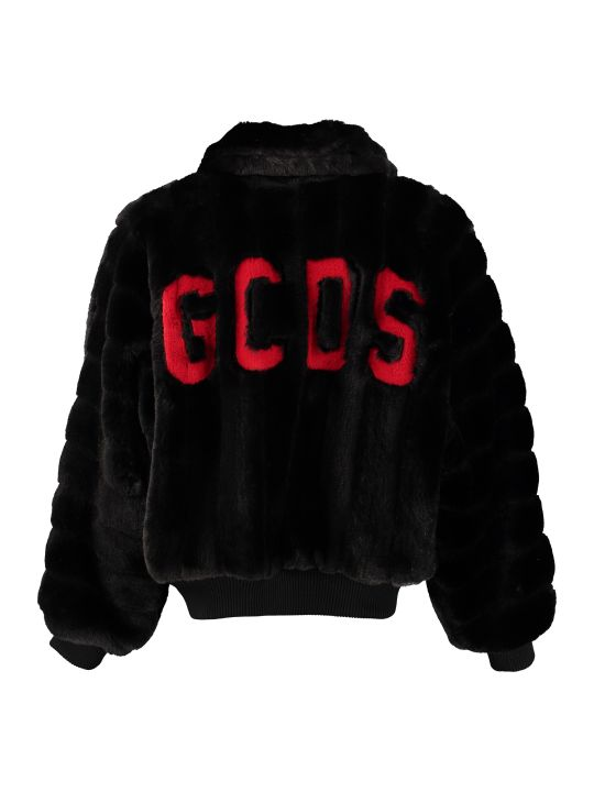 GCDS Faux Fur Bomber Jacket